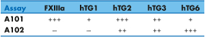 Isopeptidase activity Assay A101 and A102